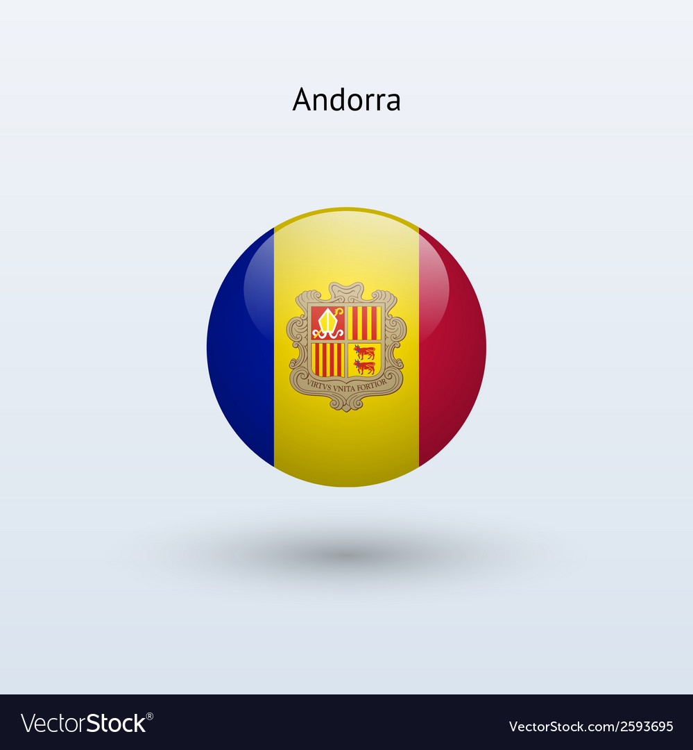 Andorra round flag vector | Price: 1 Credit (USD $1)