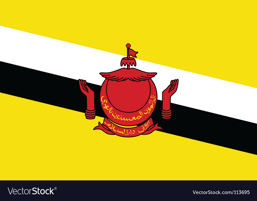 Brunei flag vector | Price: 1 Credit (USD $1)