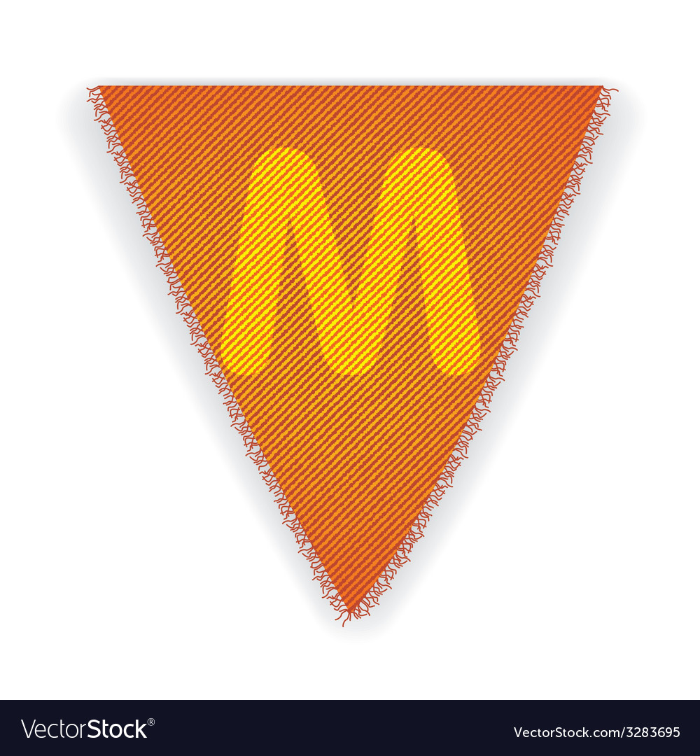 Bunting flag letter m vector | Price: 1 Credit (USD $1)
