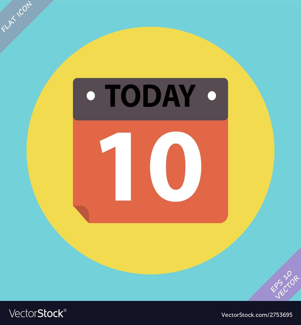 Calendar icon -  flat design vector   Price: 1 Credit (USD $1)