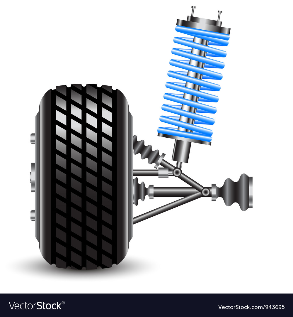 Car suspension frontal view vector | Price: 1 Credit (USD $1)