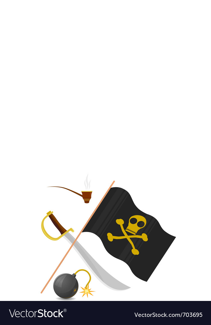 Collection of pirate attributes vector | Price: 3 Credit (USD $3)