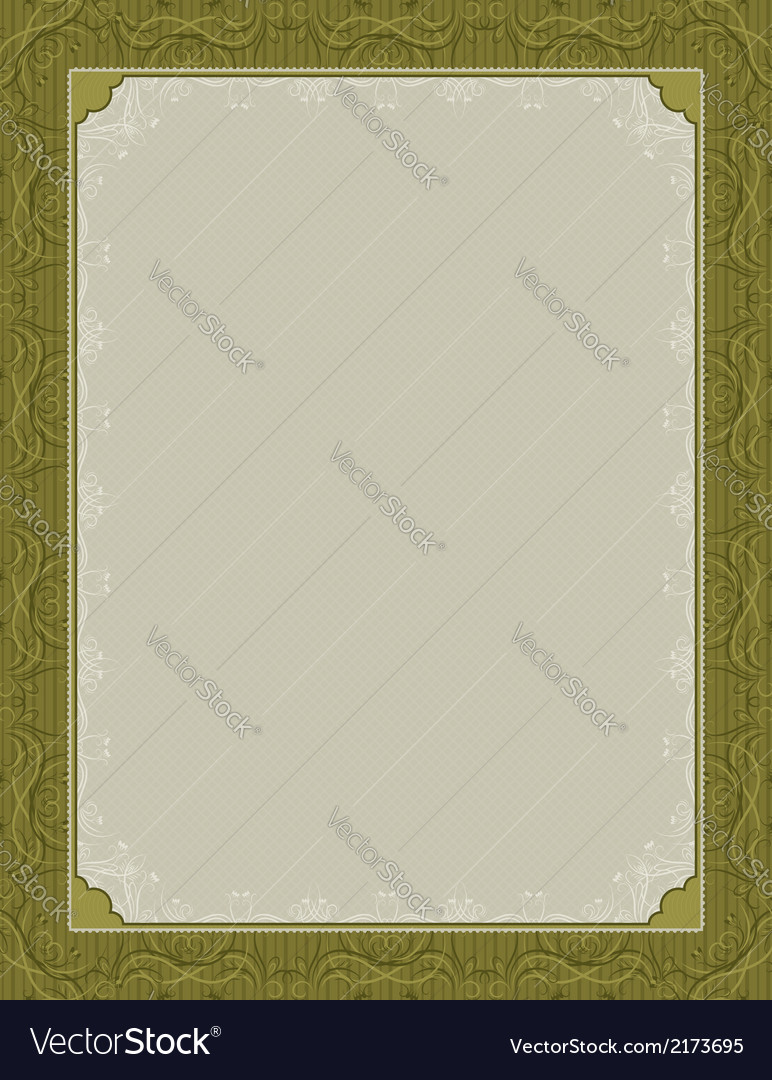 Green certificate background vector | Price: 1 Credit (USD $1)