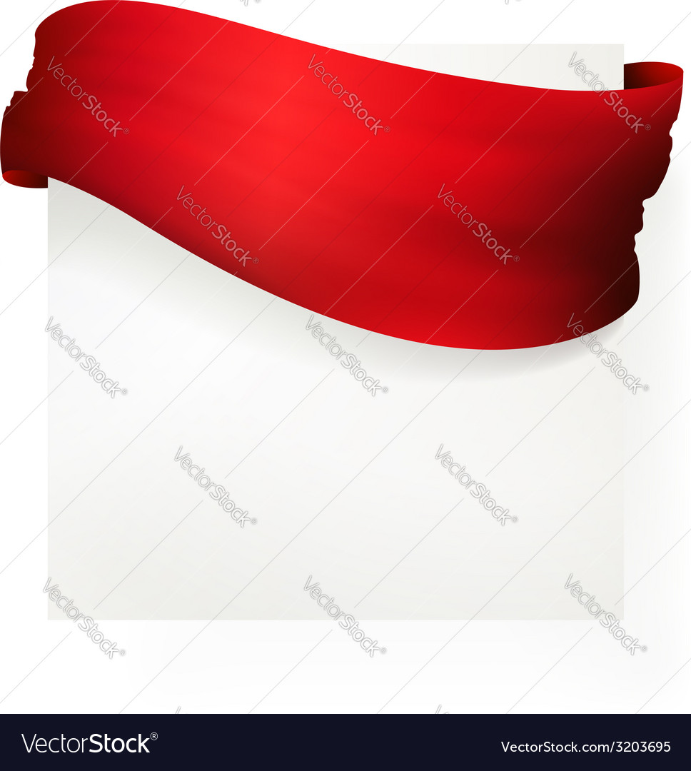 Red waving banner  drawing vector | Price: 1 Credit (USD $1)