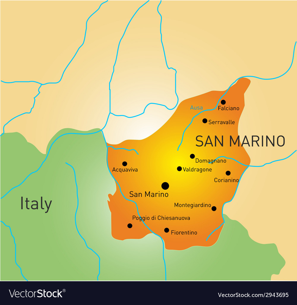 San marino map vector | Price: 1 Credit (USD $1)