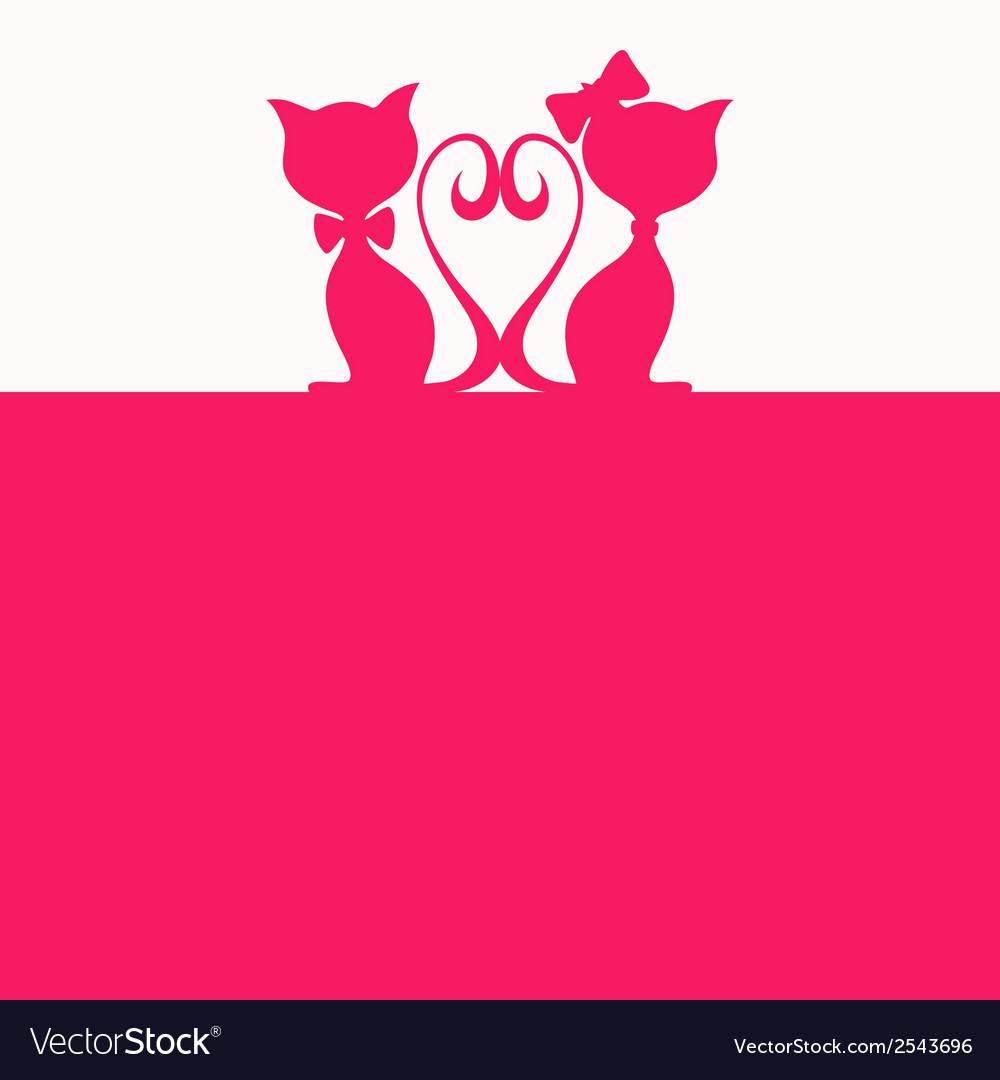 Abstract background with two cats vector | Price: 1 Credit (USD $1)