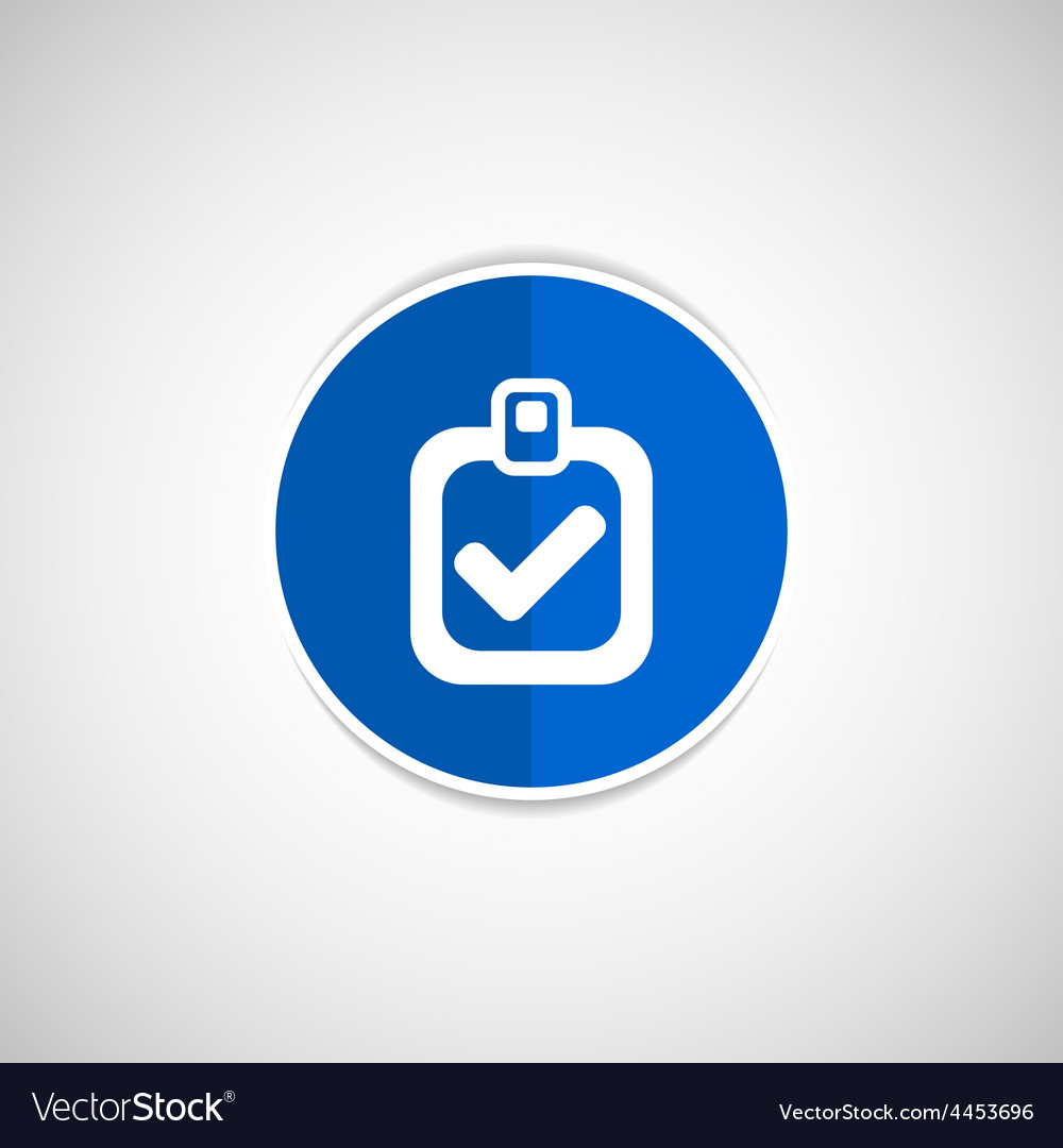 Checkmark icon test form mark tick check vector | Price: 1 Credit (USD $1)