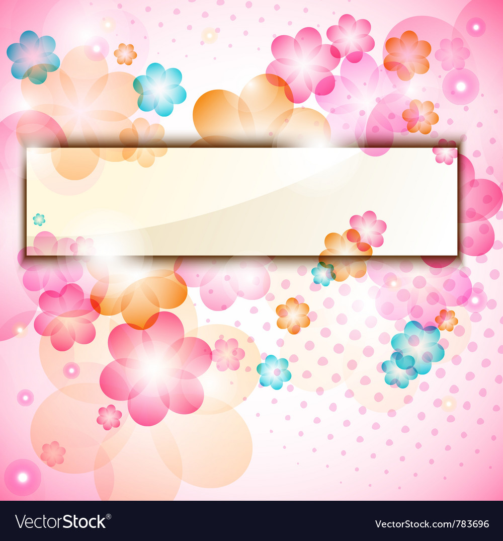 Colorful flower frame vector | Price: 1 Credit (USD $1)