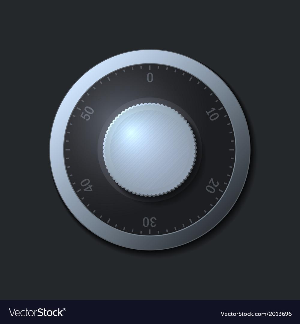 Combination lock wheel on dark background vector   Price: 1 Credit (USD $1)