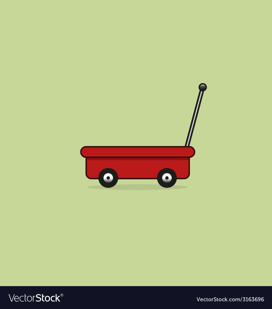 Hand trolley icon vector | Price: 1 Credit (USD $1)