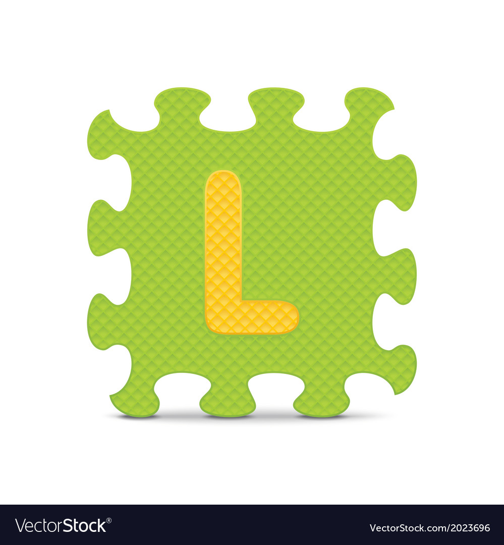 Letter l written with alphabet puzzle vector | Price: 1 Credit (USD $1)
