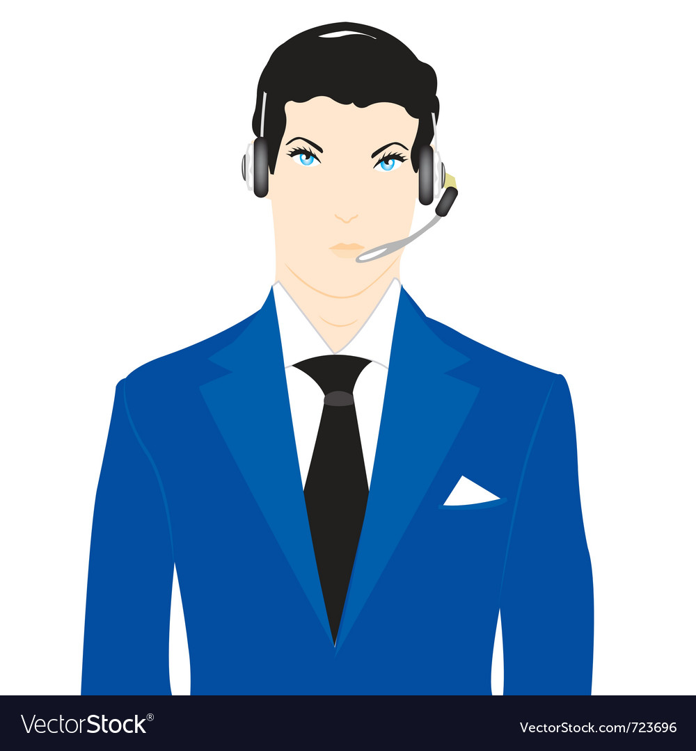 Men operator vector | Price: 1 Credit (USD $1)