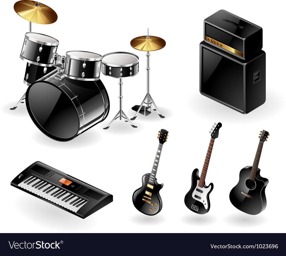 Modern musical instruments vector | Price: 3 Credit (USD $3)