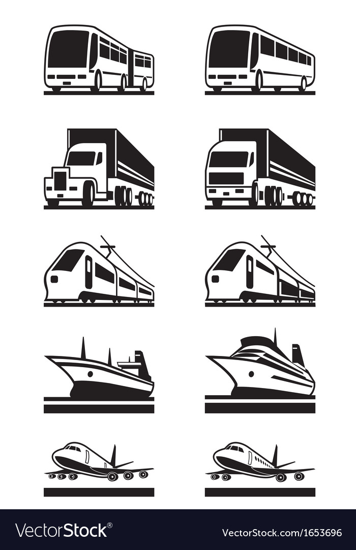 Passenger and cargo transportation vector | Price: 1 Credit (USD $1)