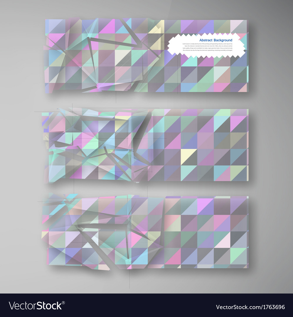 Polygon banner white 80913 vector | Price: 1 Credit (USD $1)