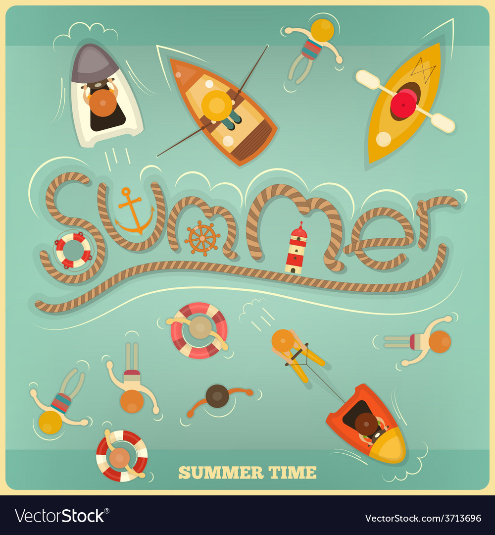 Sea summer vector | Price: 1 Credit (USD $1)