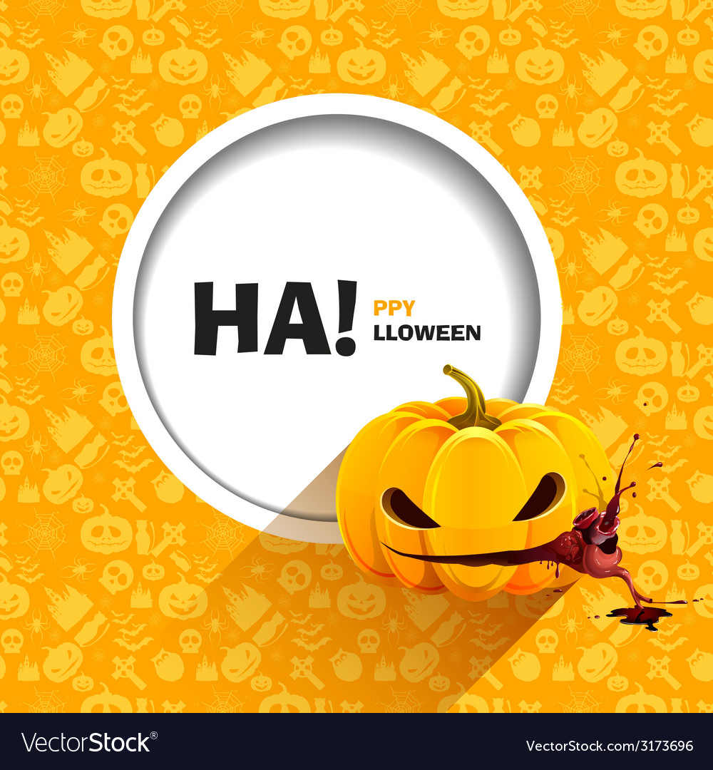 Seamless patterns for a happy halloween party vector | Price: 1 Credit (USD $1)