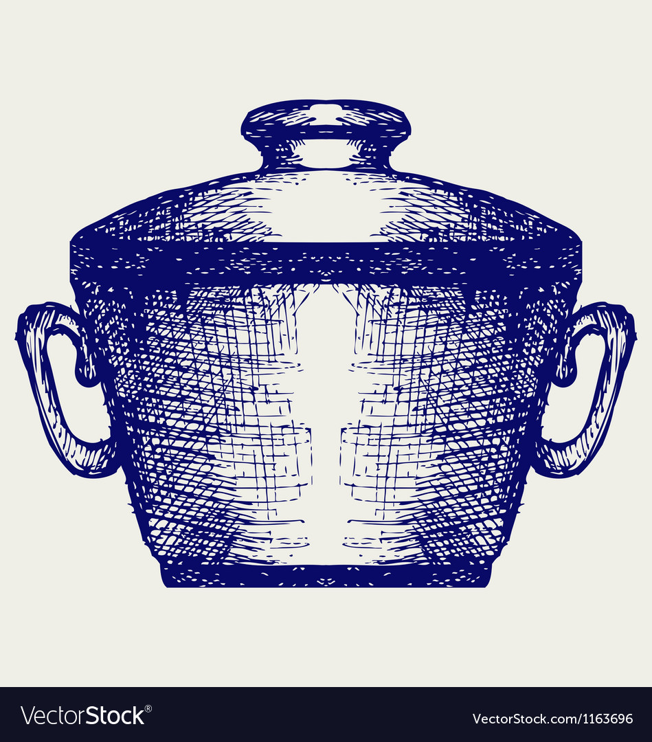 Steel pot vector | Price: 1 Credit (USD $1)