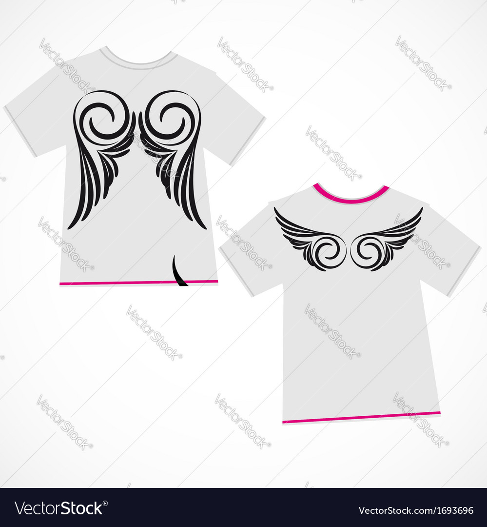 T-shirt design - wings vector | Price: 1 Credit (USD $1)