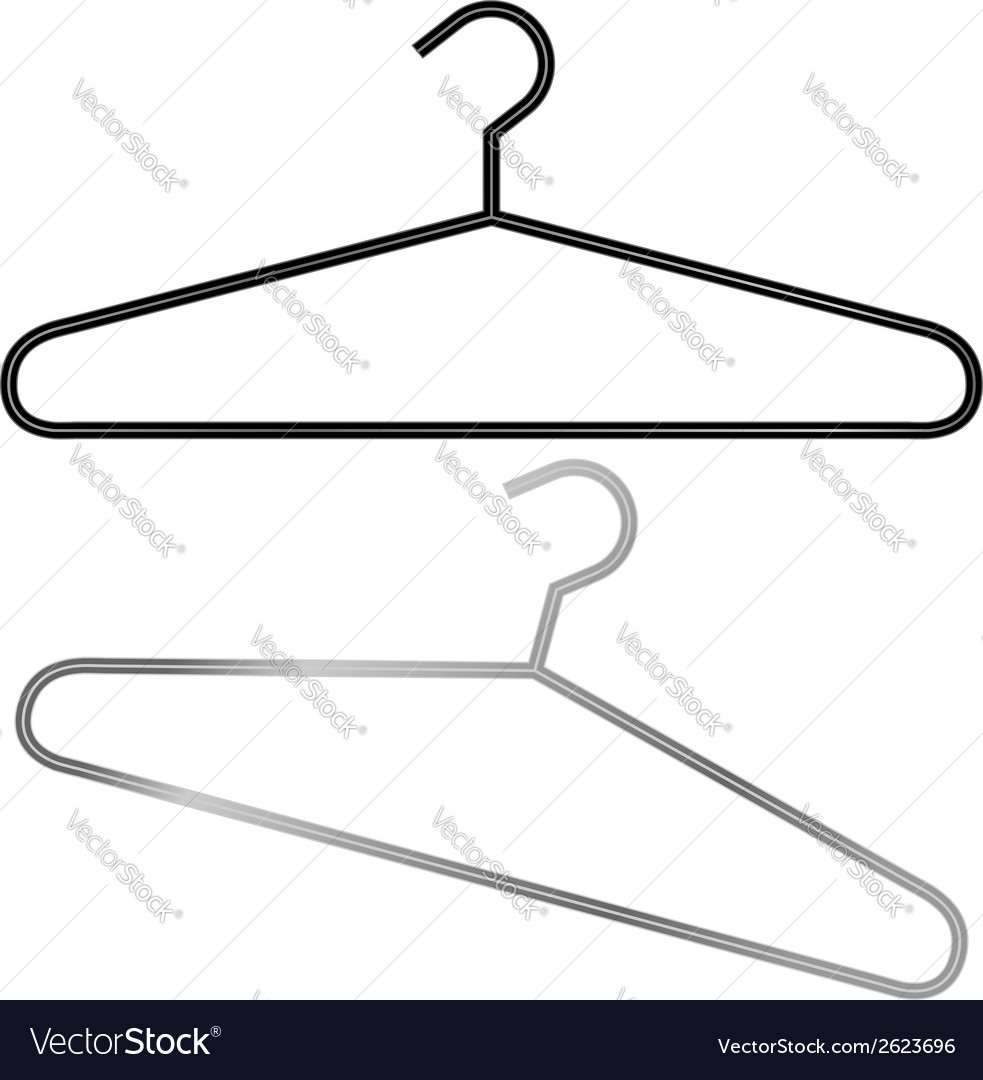 Two hangers in vector | Price: 1 Credit (USD $1)