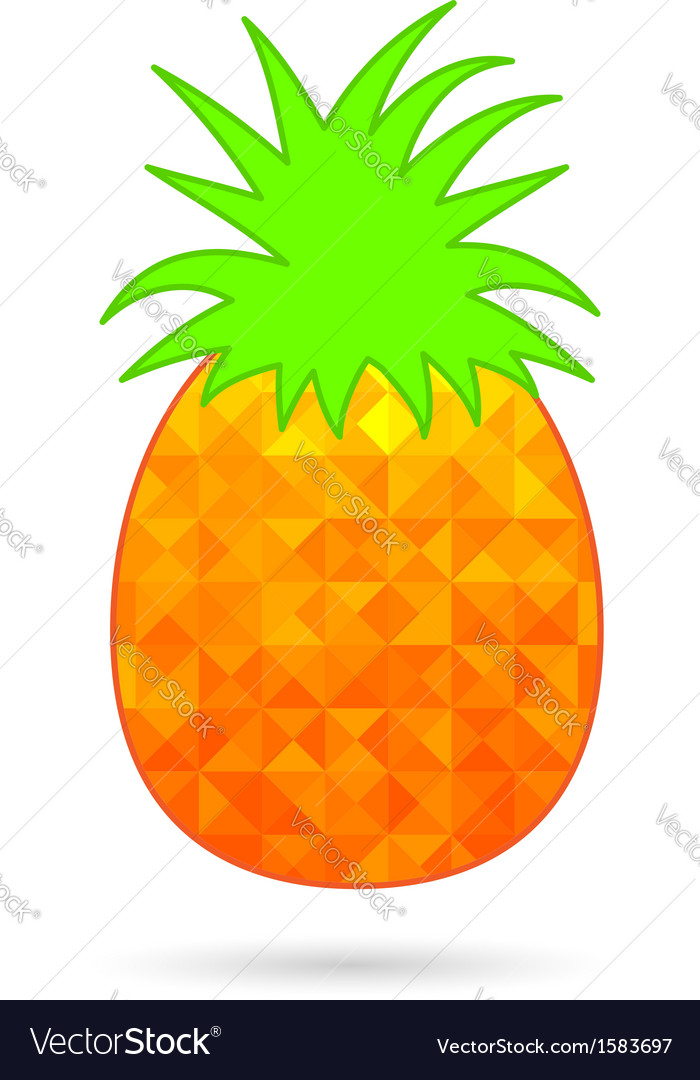 Abstract pineapple isolated on white vector | Price: 1 Credit (USD $1)