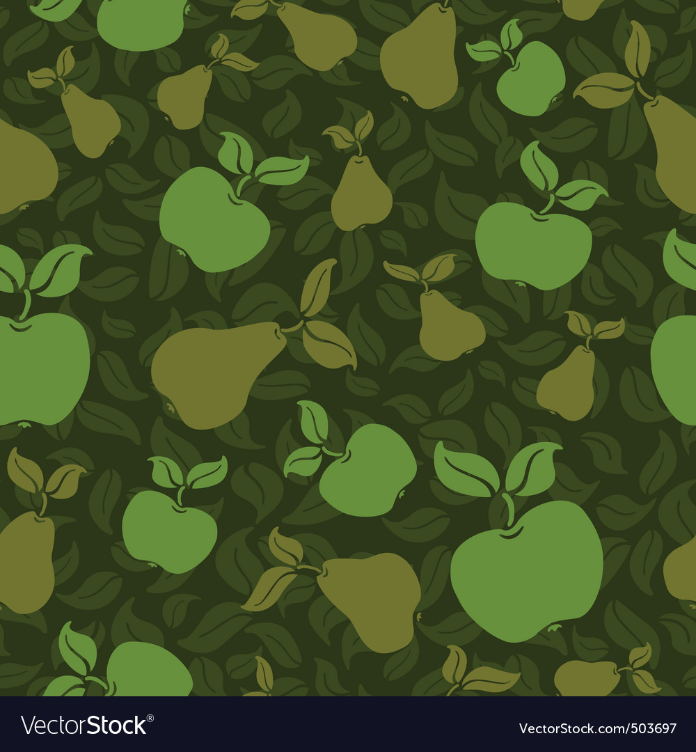 Apple pear seamless background vector | Price: 1 Credit (USD $1)