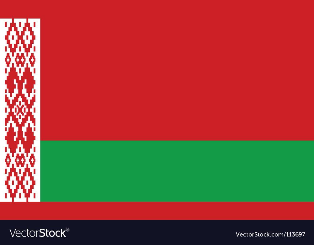 Belarus flag vector | Price: 1 Credit (USD $1)