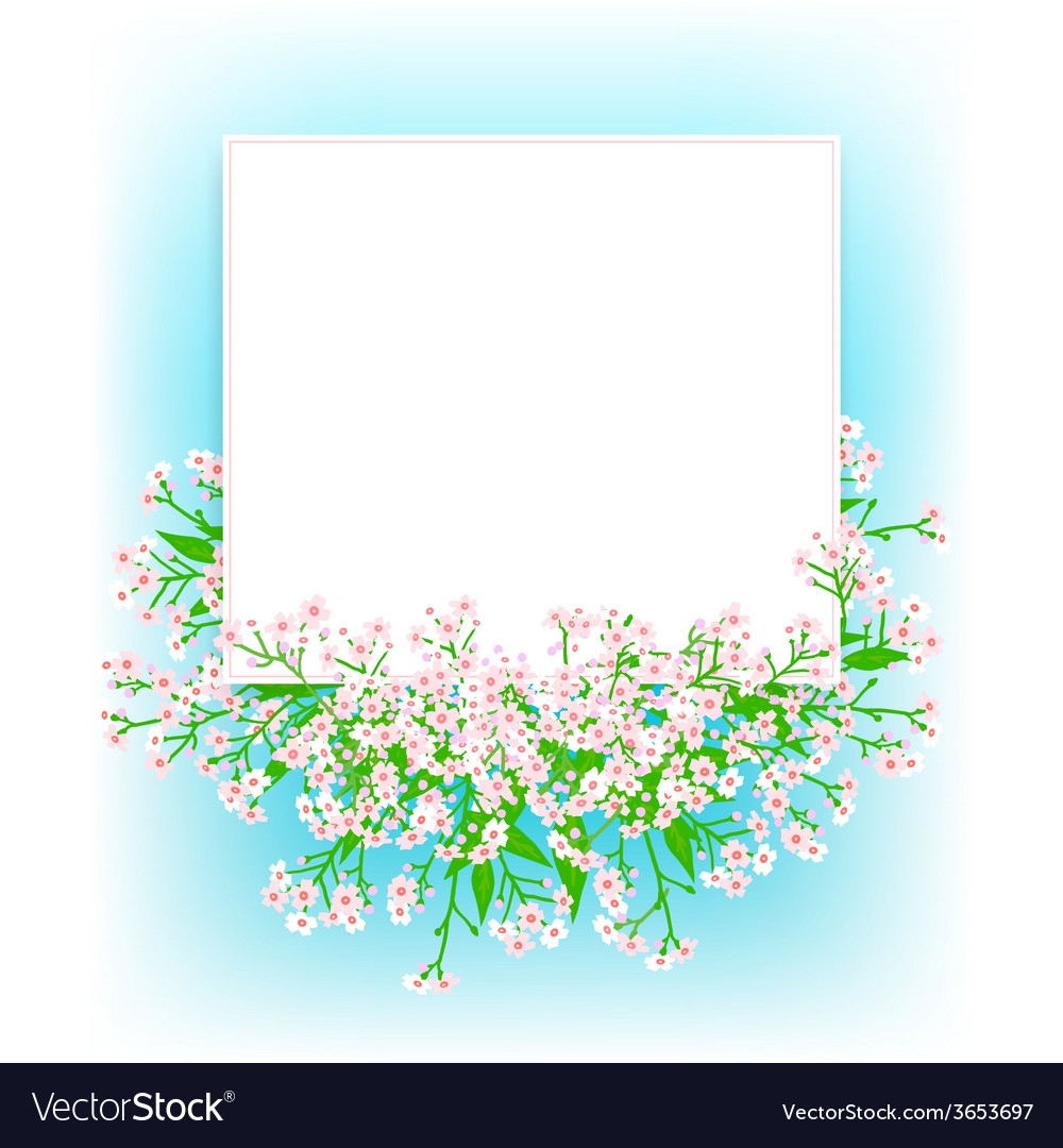 Card with small pink flowers vector | Price: 1 Credit (USD $1)