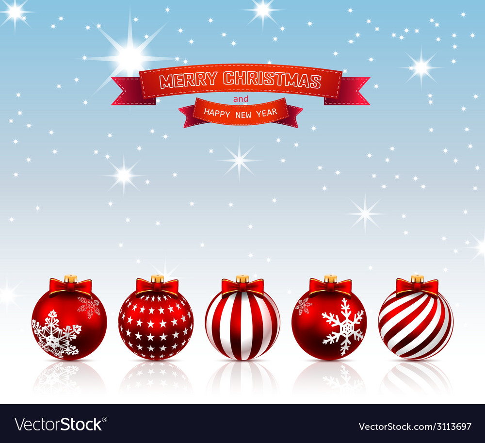 Christmas red balls vector | Price: 1 Credit (USD $1)