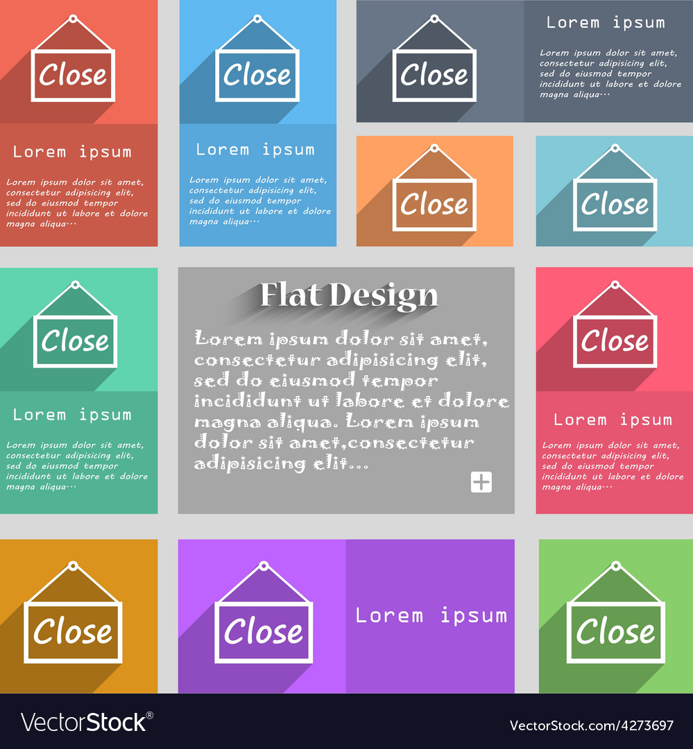 Close icon sign set of multicolored buttons metro vector   Price: 1 Credit (USD $1)