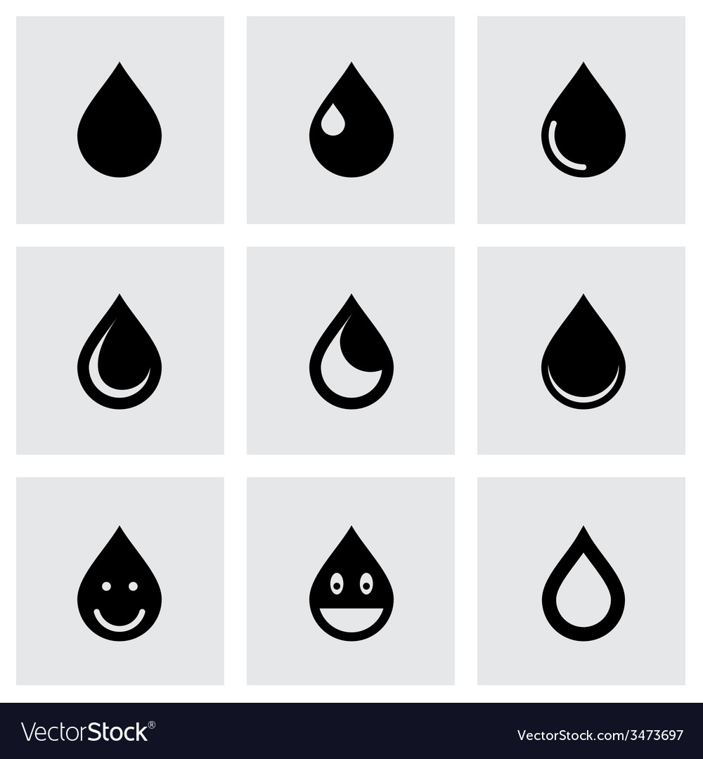 Drop icon set vector | Price: 1 Credit (USD $1)
