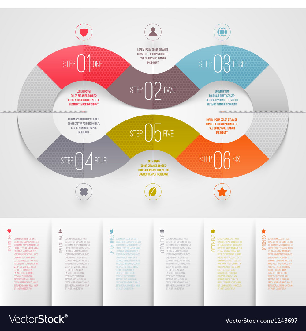 Infographics design template vector | Price: 3 Credit (USD $3)