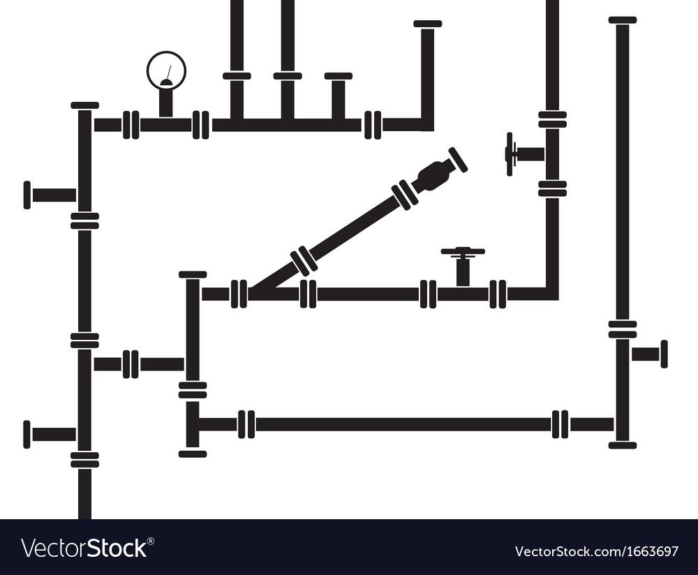 Seamless background of water pipeline vector | Price: 1 Credit (USD $1)