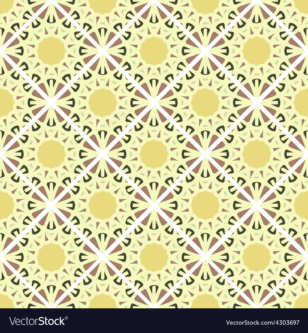 Seamless mosaic geometrical pattern background vector | Price: 1 Credit (USD $1)
