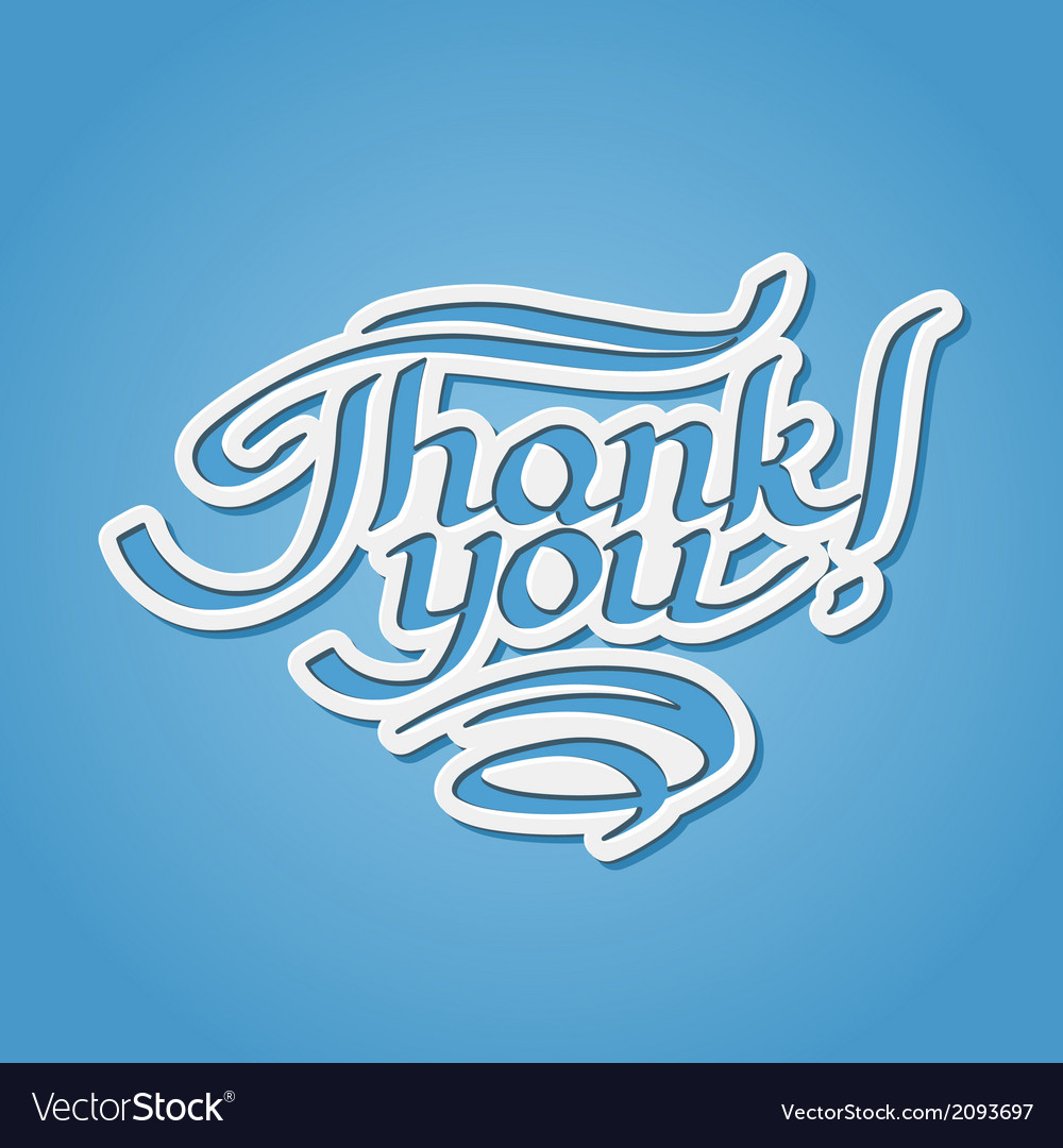 Thank you hand-drawn lettering vector | Price: 1 Credit (USD $1)