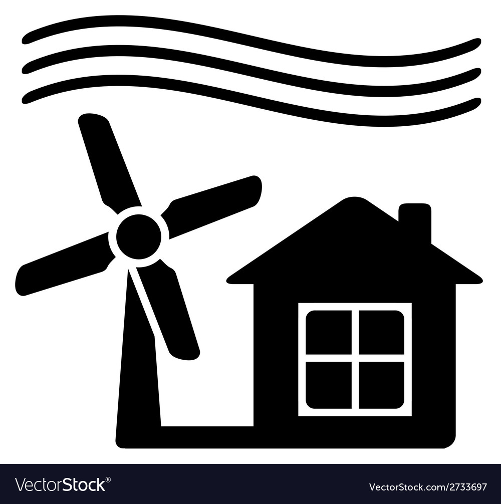 Windmill alternative energy source for home vector | Price: 1 Credit (USD $1)