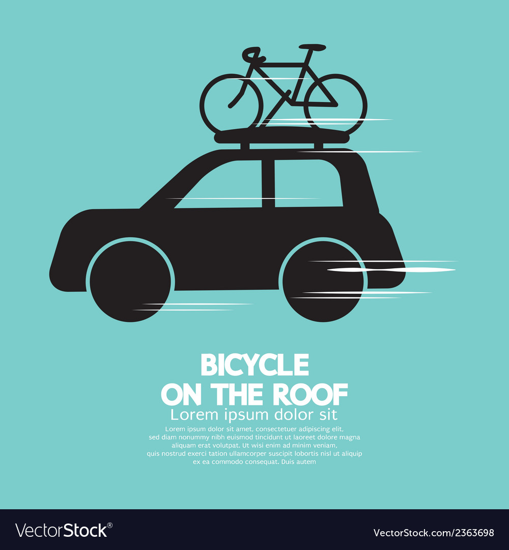 Bicycle on the roof vector | Price: 1 Credit (USD $1)