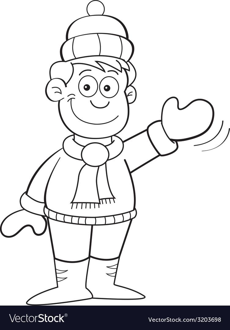 Cartoon boy earing winter clothes vector | Price: 1 Credit (USD $1)