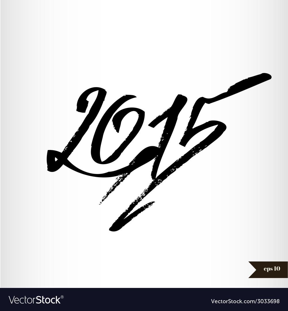 Happy new year handwritten calligraphic watercolor vector | Price: 1 Credit (USD $1)