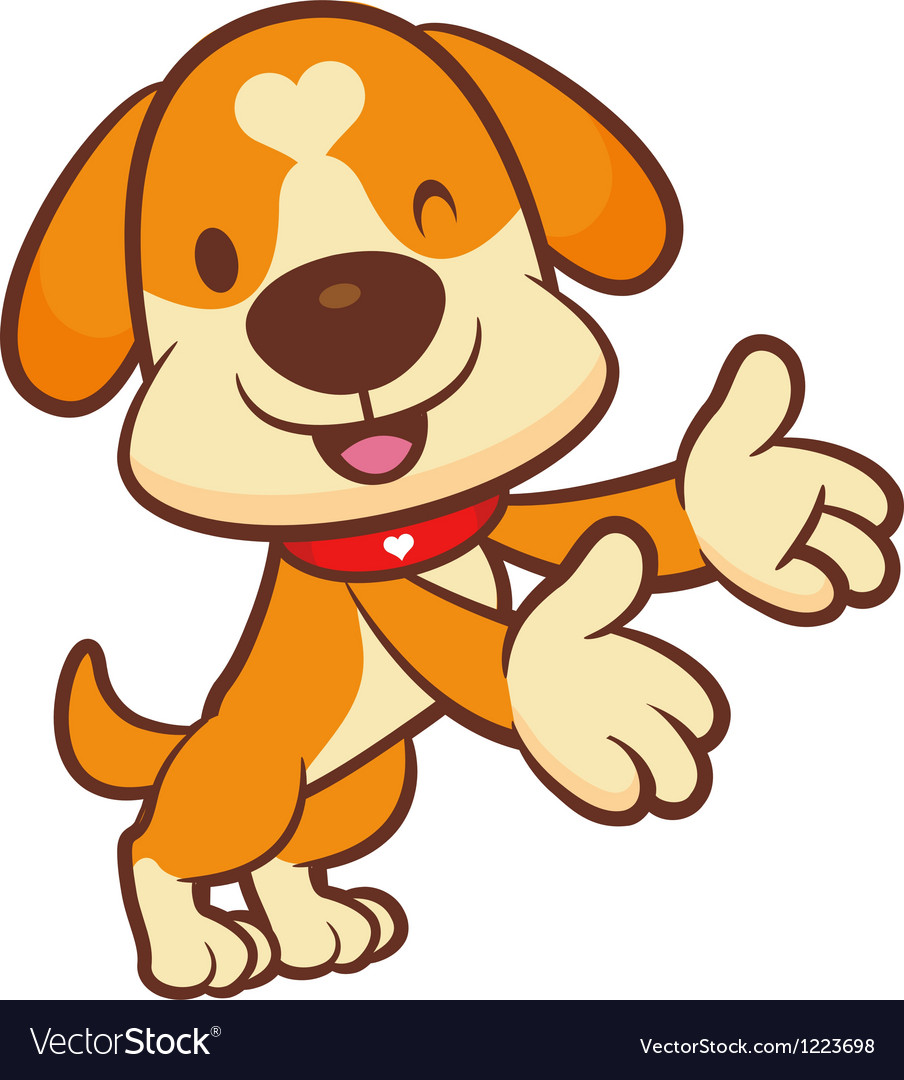 Holding paw to guide dog mascot vector | Price: 3 Credit (USD $3)