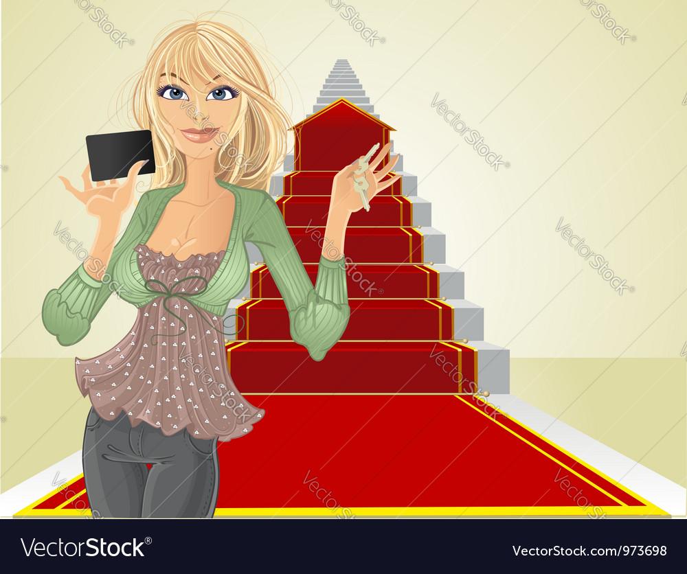 Real estate agent keys vector | Price: 5 Credit (USD $5)