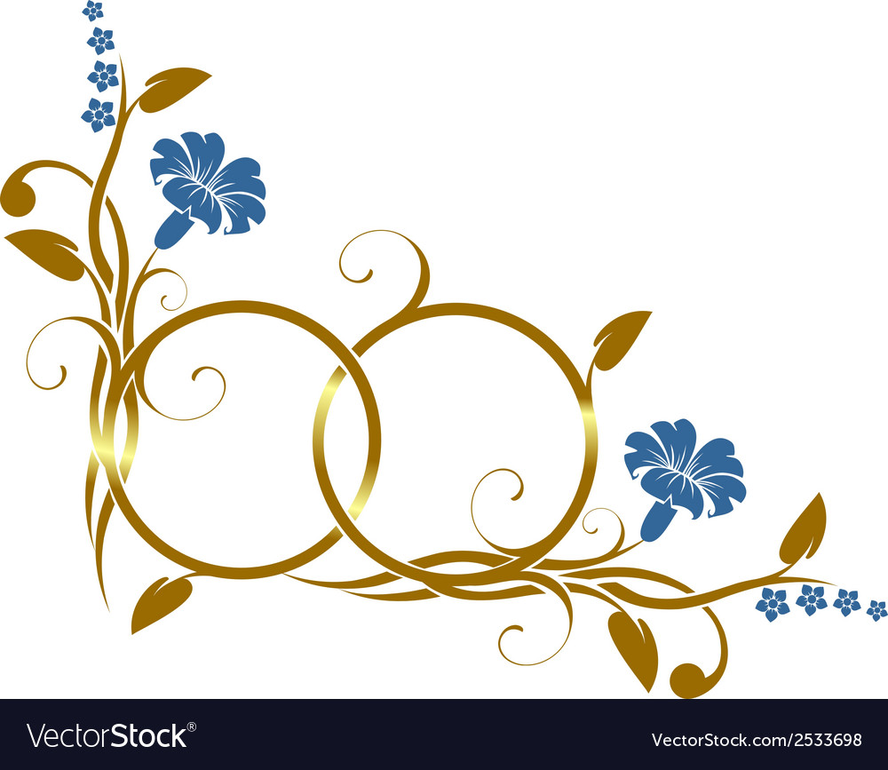 Ring with floral decor vector   Price: 1 Credit (USD $1)