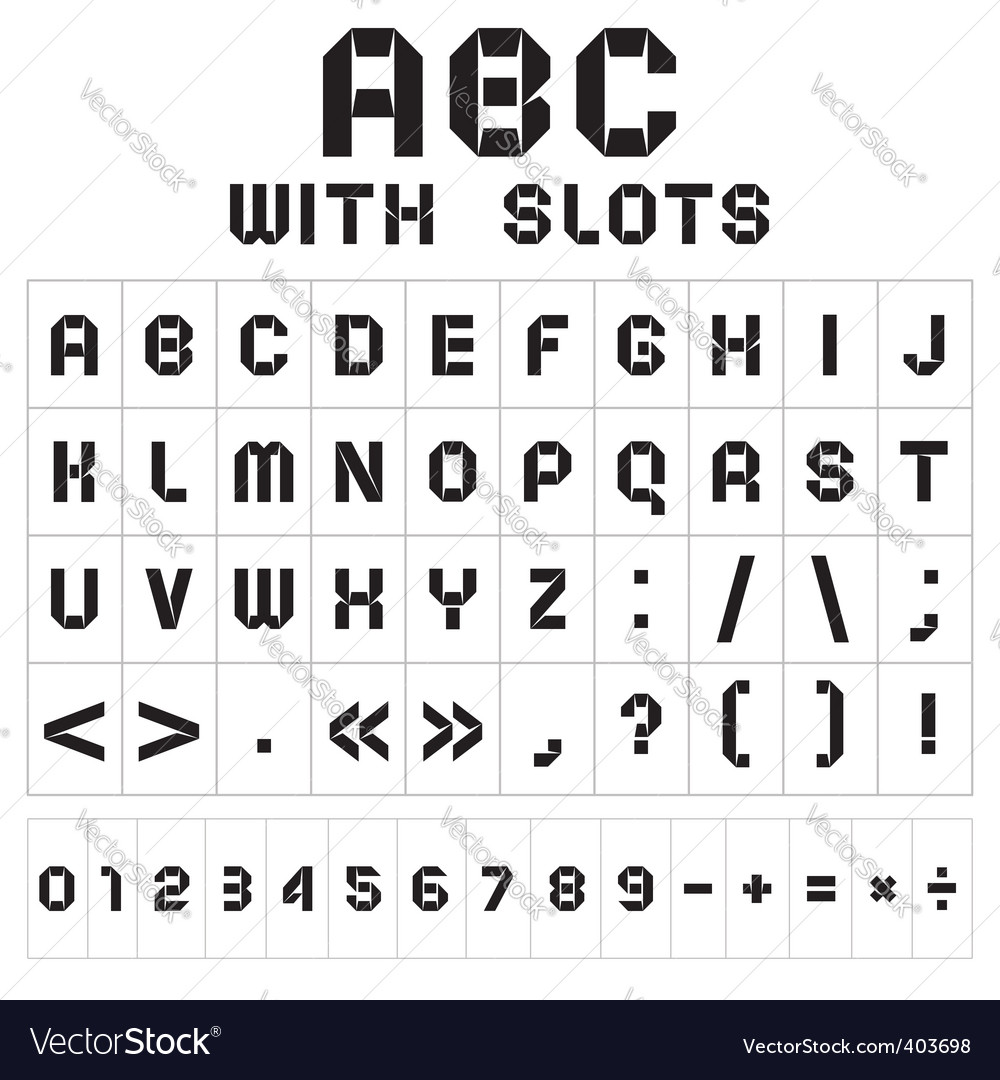 Slot font vector | Price: 3 Credit (USD $3)