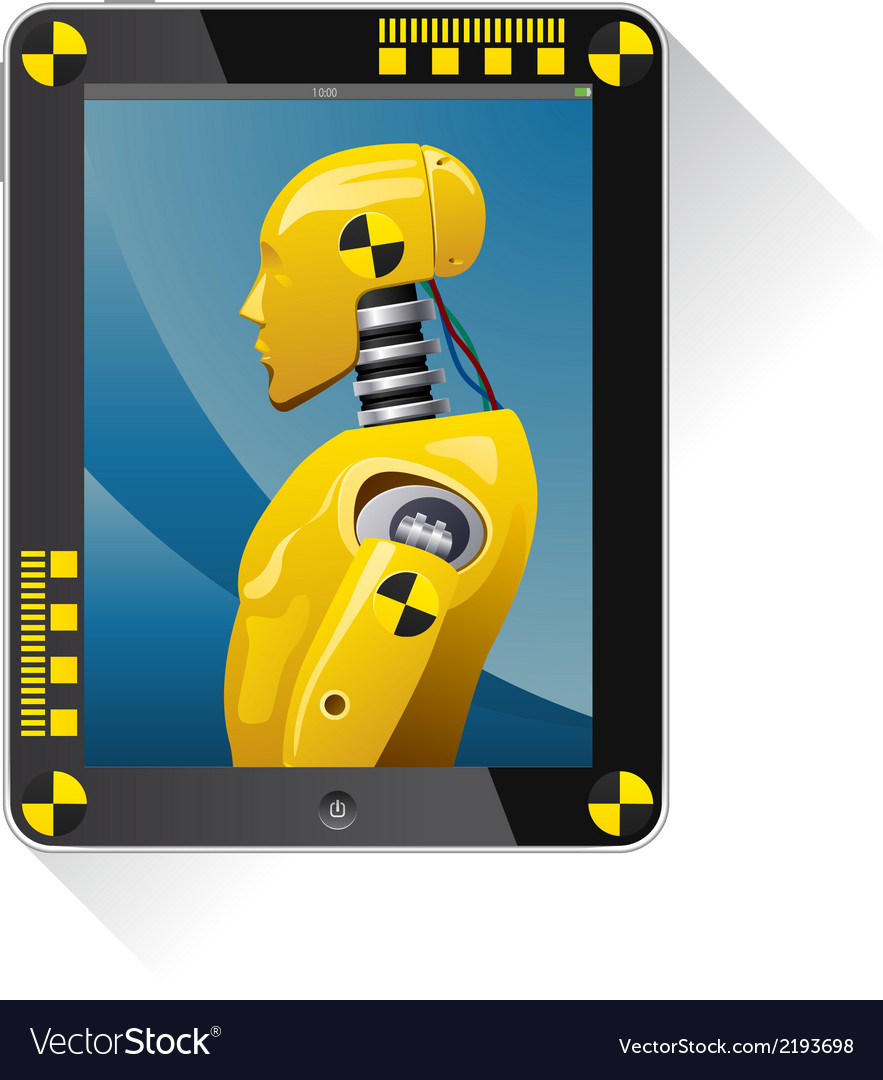 Tochpad with picture the crash test dummy vector | Price: 1 Credit (USD $1)
