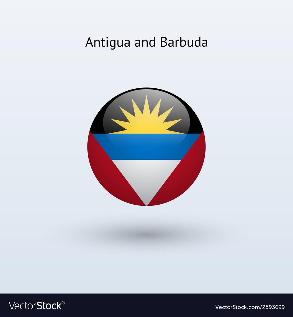Antigua and barbuda round flag vector   Price: 1 Credit (USD $1)