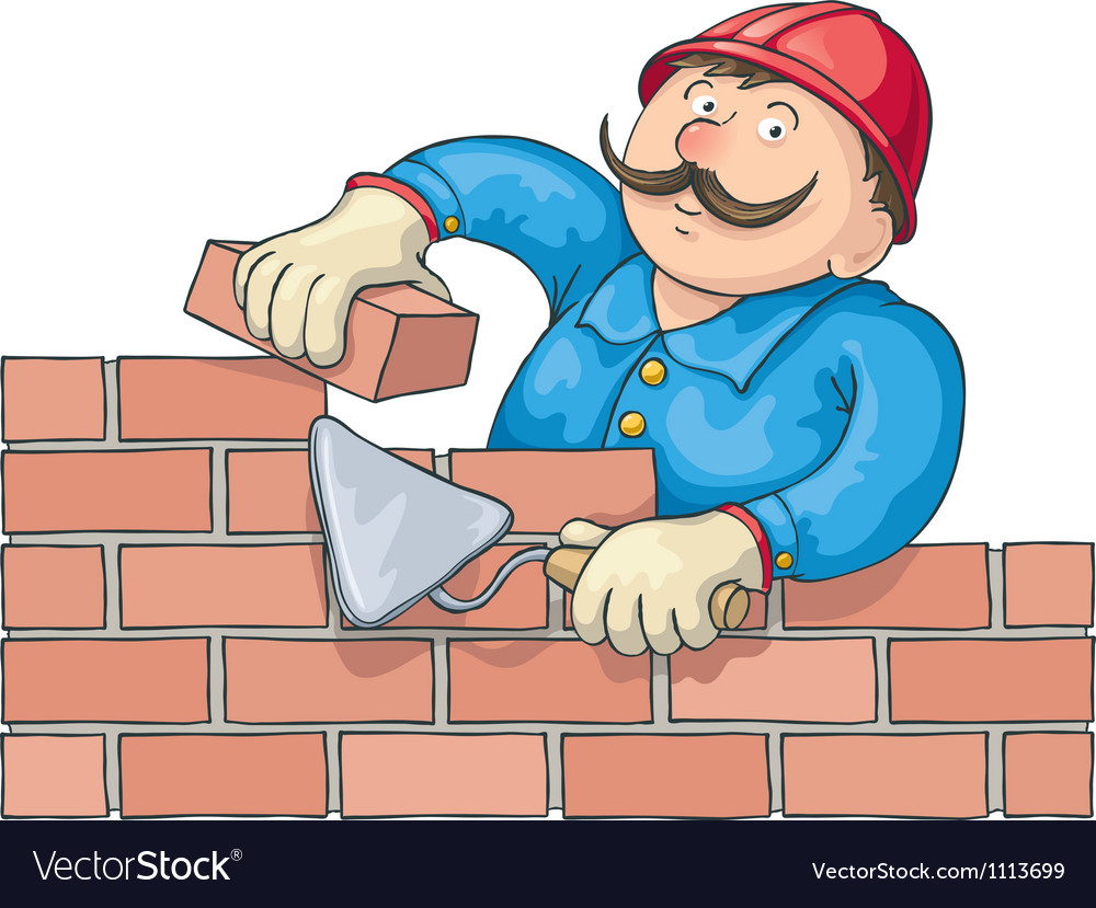 Bricklayer at the work vector | Price: 3 Credit (USD $3)
