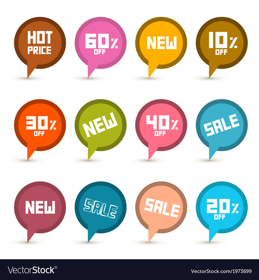 Business stickers - labels set with new title vector | Price: 1 Credit (USD $1)