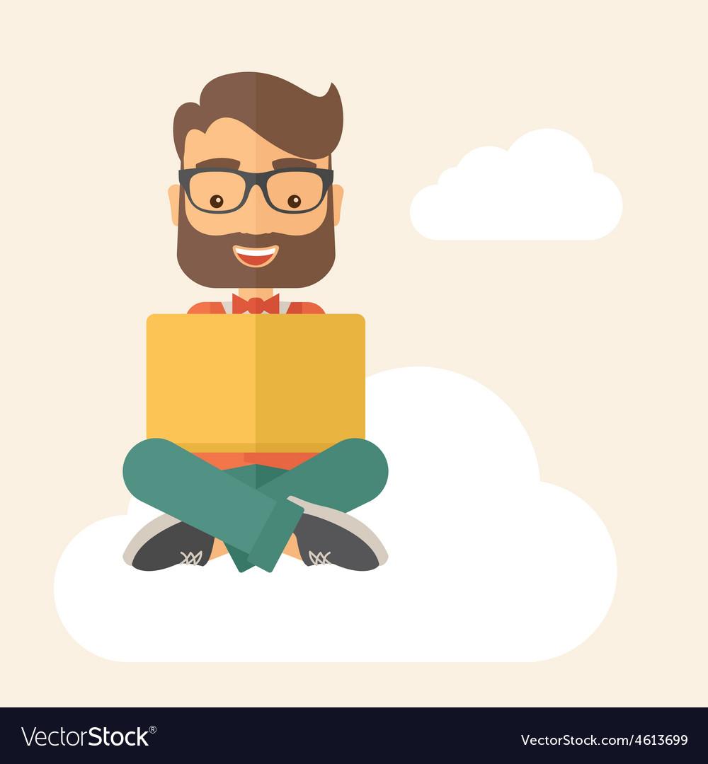Businessman reading book vector | Price: 1 Credit (USD $1)