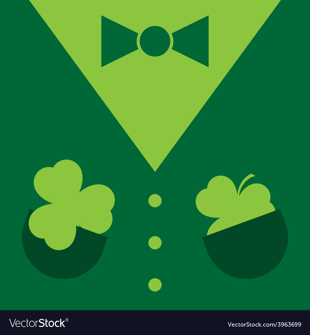 Dark green suit with shamrocks vector | Price: 1 Credit (USD $1)