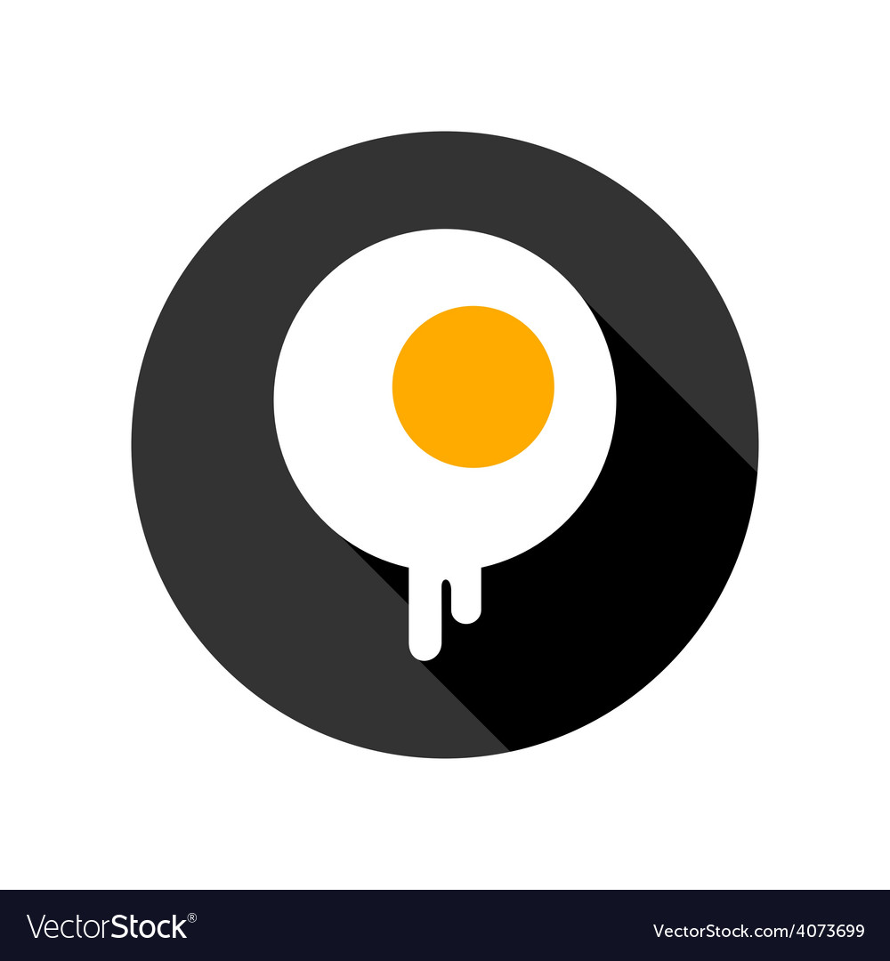 Fried eggs flat icon vector | Price: 1 Credit (USD $1)